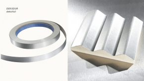 Coating film, endless laminate and edge material (genuine metal, aluminium)