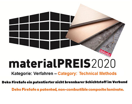 2020 raumPROBE material award in the PROCESS category
