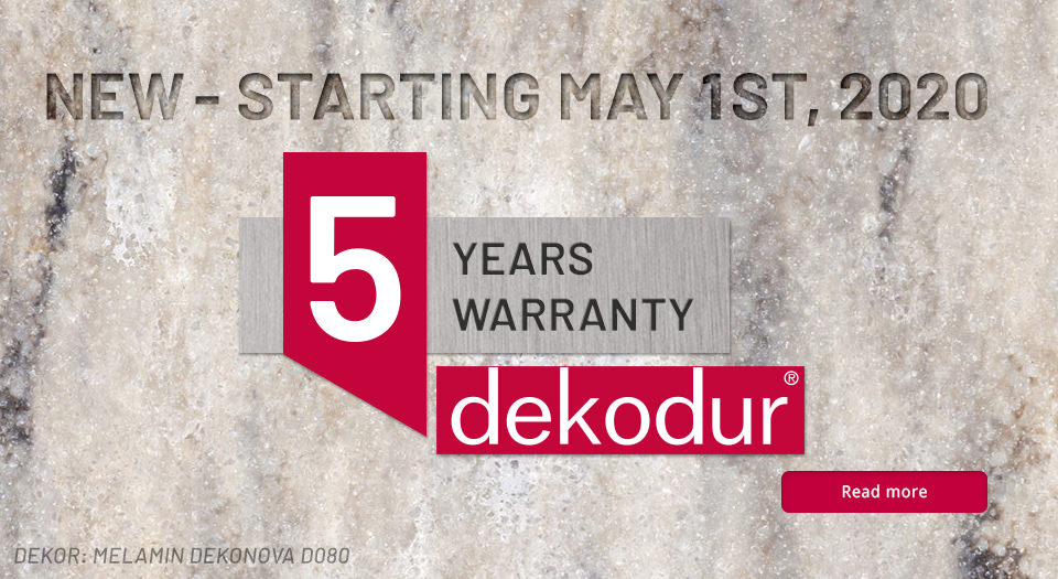 Five-year manufacturer's warranty on all DI-Dekodur products.