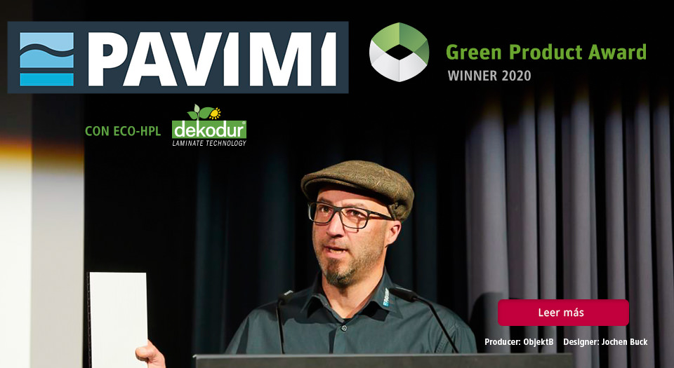 ECO-HPL de DI Dekodur International en el Green Product Award & Green Concept Award 2020
